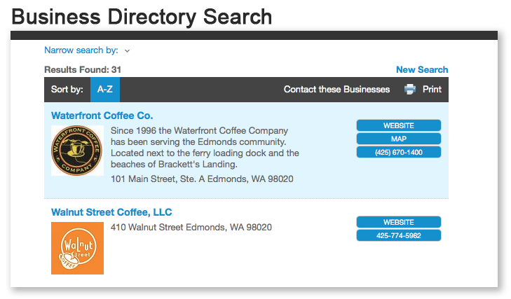 Business Directory Search